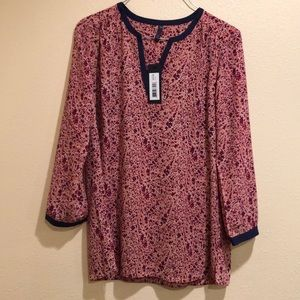 NYDJ Exotic Floral Blouse XS
